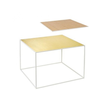 By Lassen Twin Table 49 white base