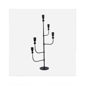 House Doctor Candle Stand Ira Black