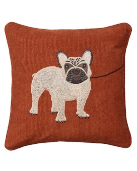 Chhatwal & Jonsson Kudde Corduroy Embroidered French Bulldog Rust
