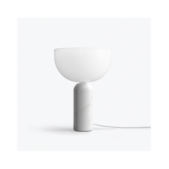 New Works Kizu Table Lamp White Marble