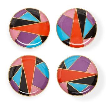 Jonathan Adler Harlequin Coaster 4-set