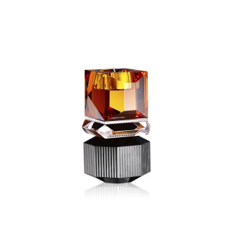 Reflections Dakota T-light Holder Amber/Clear/Black