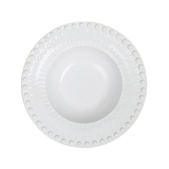 Pottery Jo Daisy Djup Tallrik Vit 21 cm