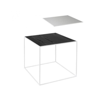 By Lassen Twin Table 42 white base