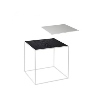 By Lassen Twin Table 35 white base