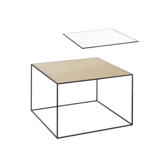 By Lassen Twin Table 49 black base