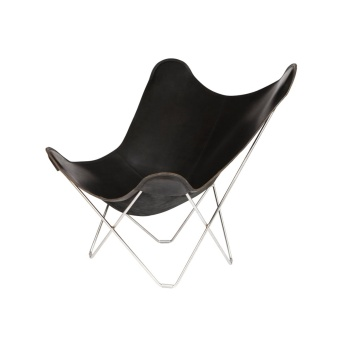 Cuero Butterfly Chair Leather Pampa Mariposa Black