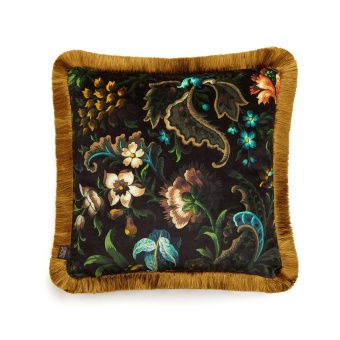 House of Hackney Kudde Florika Fringed Velvet Onyx