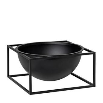 By Lassen Kubus Bowl Centerpiece Large Svart