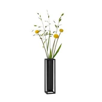 By Lassen Kubus Vase Flora Svart