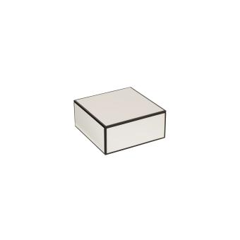 Oi Soi Oi Lackad Box Med Kant Vit Small