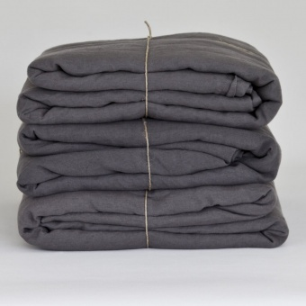 Tell Me More Tablecloth/Sheet Linen Darkgrey