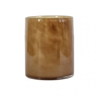 Tell Me More Lyric Candleholder Large Brown