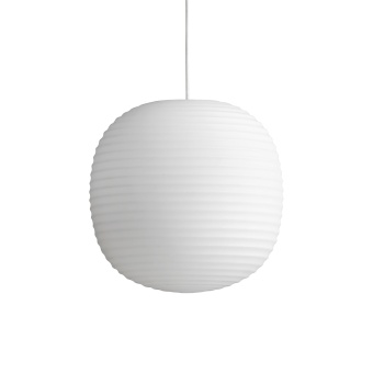 New Works Lantern Pendant Frosted White Opal Glass Ø30