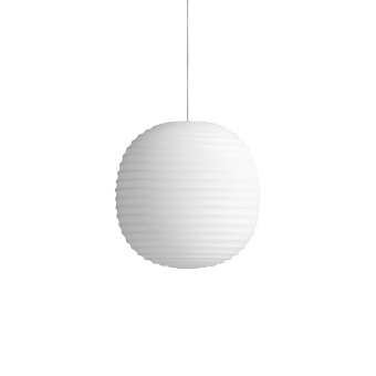 New Works Lantern Pendant Frosted White Opal Glass Ø20
