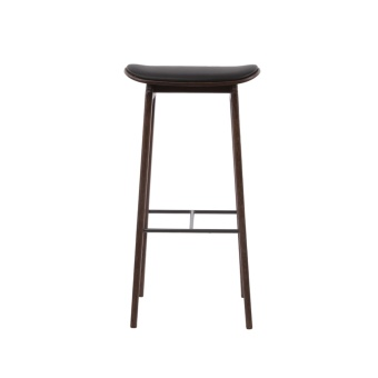 Norr 11 NY11 Bar Chair Dark Stained Leather