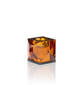Reflections Ophelia T-light Holder Amber/Black
