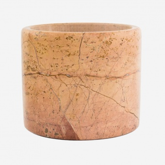 Isadeco Pink Marble Pot Large