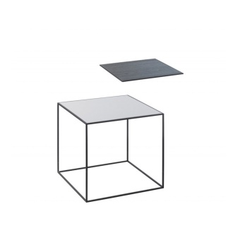By Lassen Twin Table 35 black base