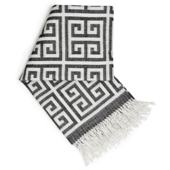 Jonathan Adler Greek Key Alpaca Pläd Grey