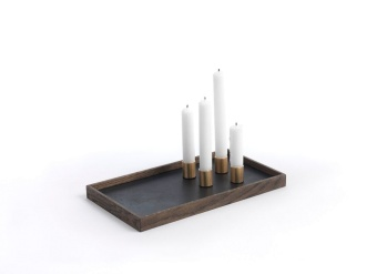 The Oak Men Candle Tray De Luxe