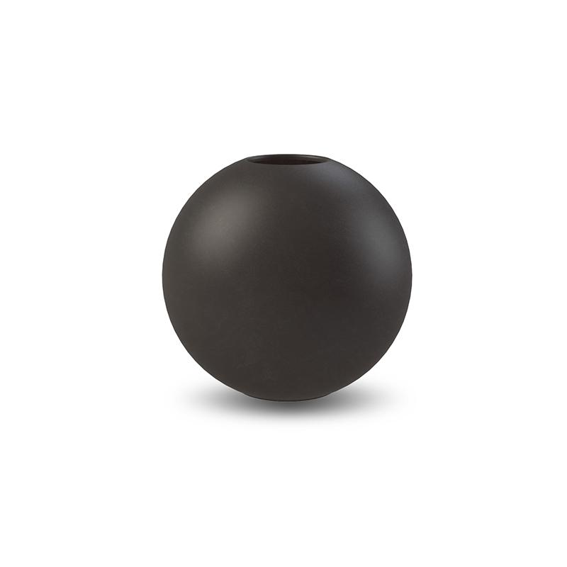Cooee Ball Vase Black 10 cm