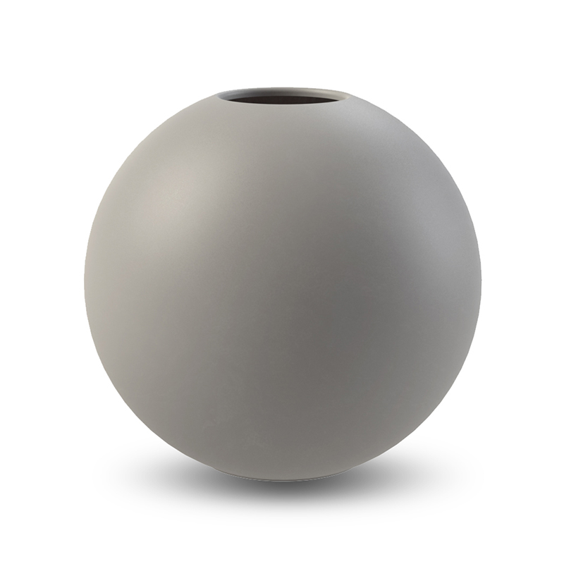 Cooee Ball Vase Grey 20 cm