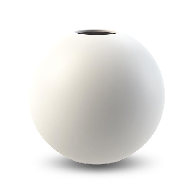 Cooee Ball Vase White 20 cm
