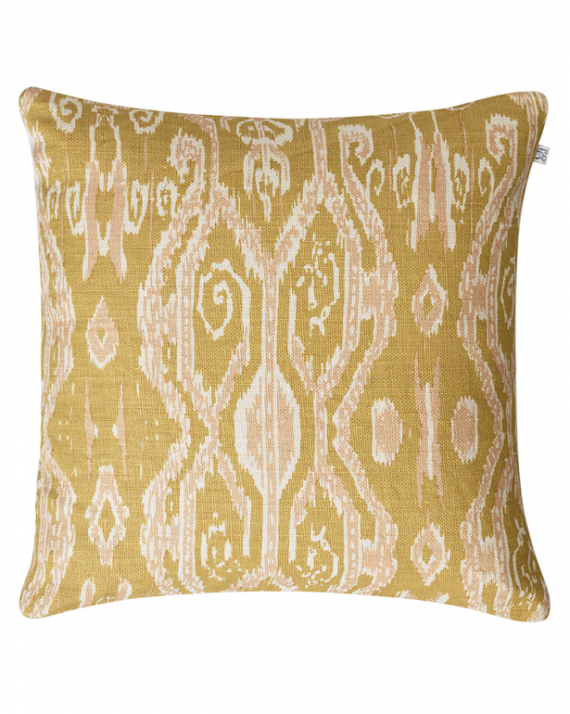 Chhatwal & Jonsson Kudde Linen Ikat Madras Spicy Yellow/Rose