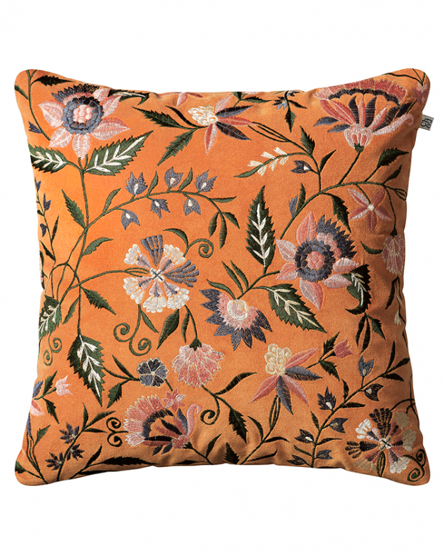 Chhatwal & Jonsson Kuddfodral Suri Velvet Orange Multi