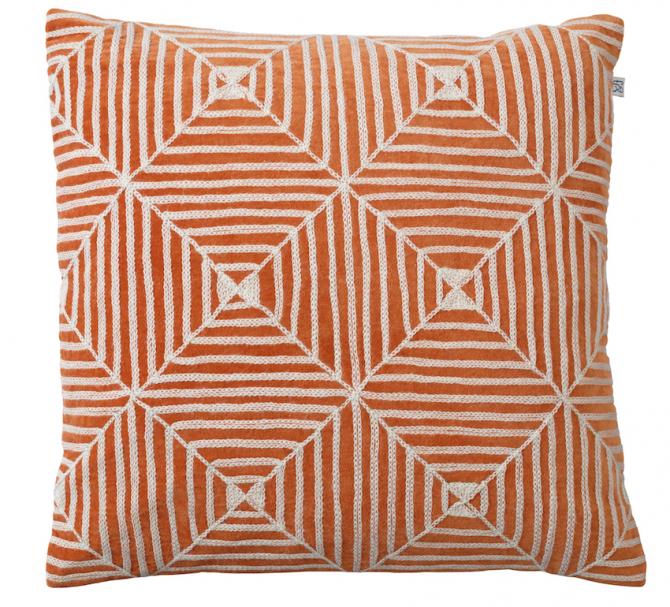 Chhatwal & Jonsson Kudde Kulgam Embroidered Velvet Orange