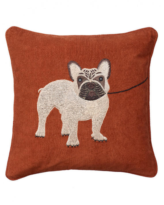 Chhatwal & Jonsson Kudde Corduroy Embroidered French Bulldog Rust