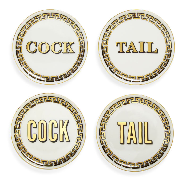 Jonathan Adler Cock/Tail Coaster Set