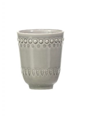 Pottery Jo Mugg Daisy Soft Grey