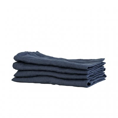 Tell Me More Kitchen Towel Linen Midnight Blue