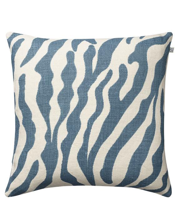 Chhatwal & Jonsson Kuddfodral Zebra Linen Heaven Blue 50x50