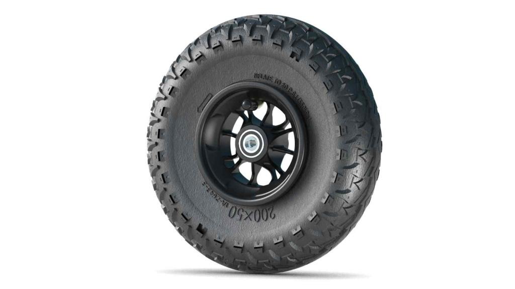 Komplett hjul - 200 mm (svart)