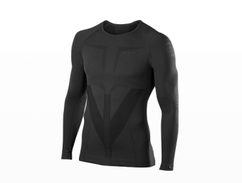 Falke - Warm Longsleeved Shirt Tight Men - Black