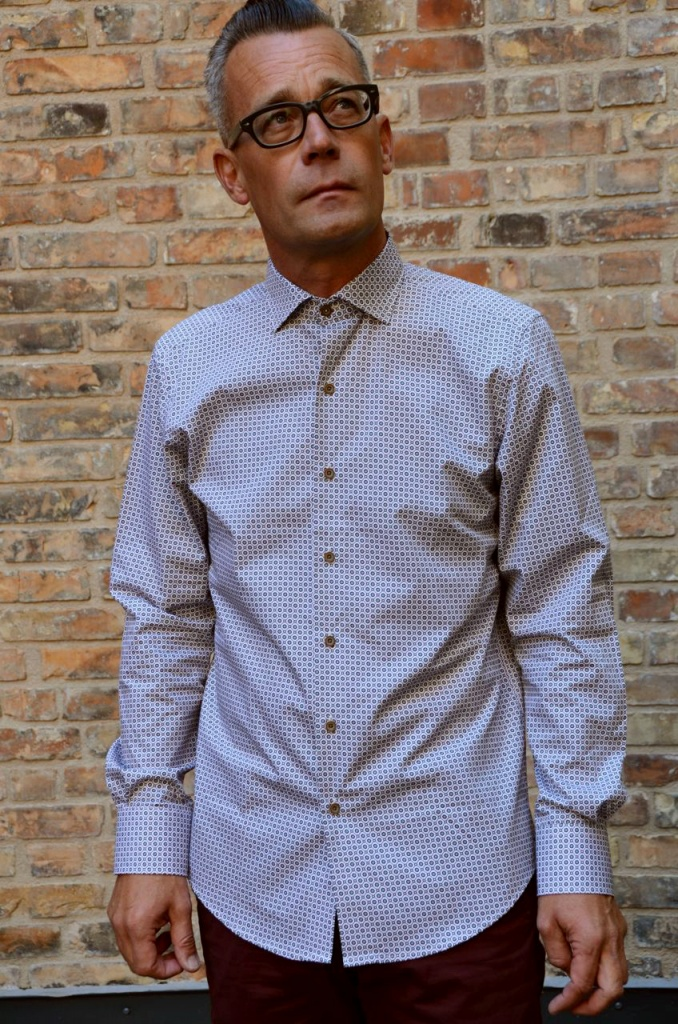 Carlos Cordoba shirt småmönstrad olive/petrol