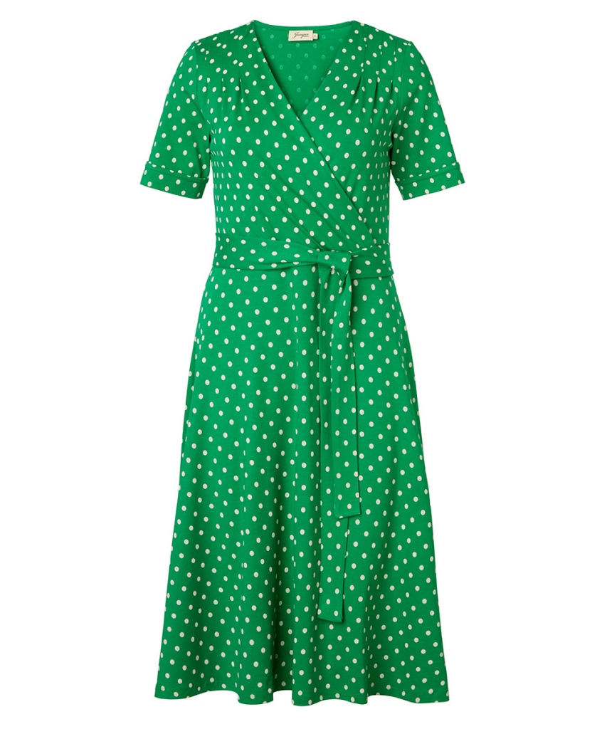 Celia Dot Green Short Sleeve