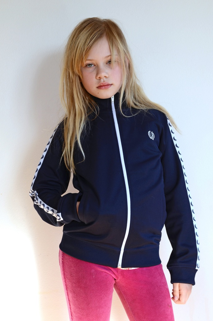 Kids Taped Track Jacket carbon blue
