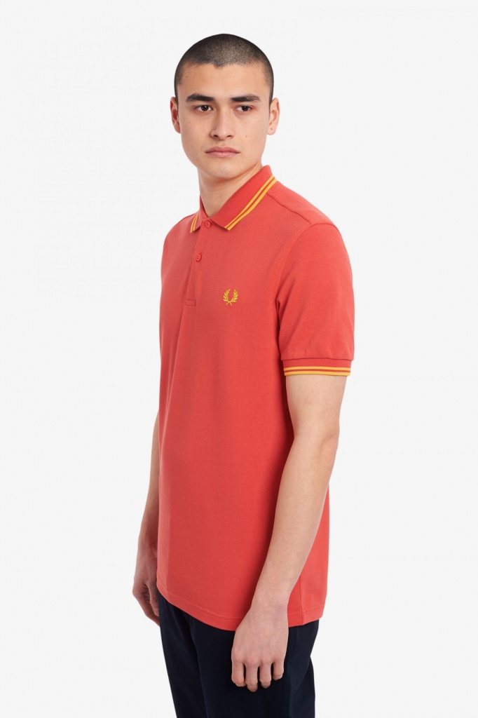 Fred Perry polo Shirt twin tipped Summer Red