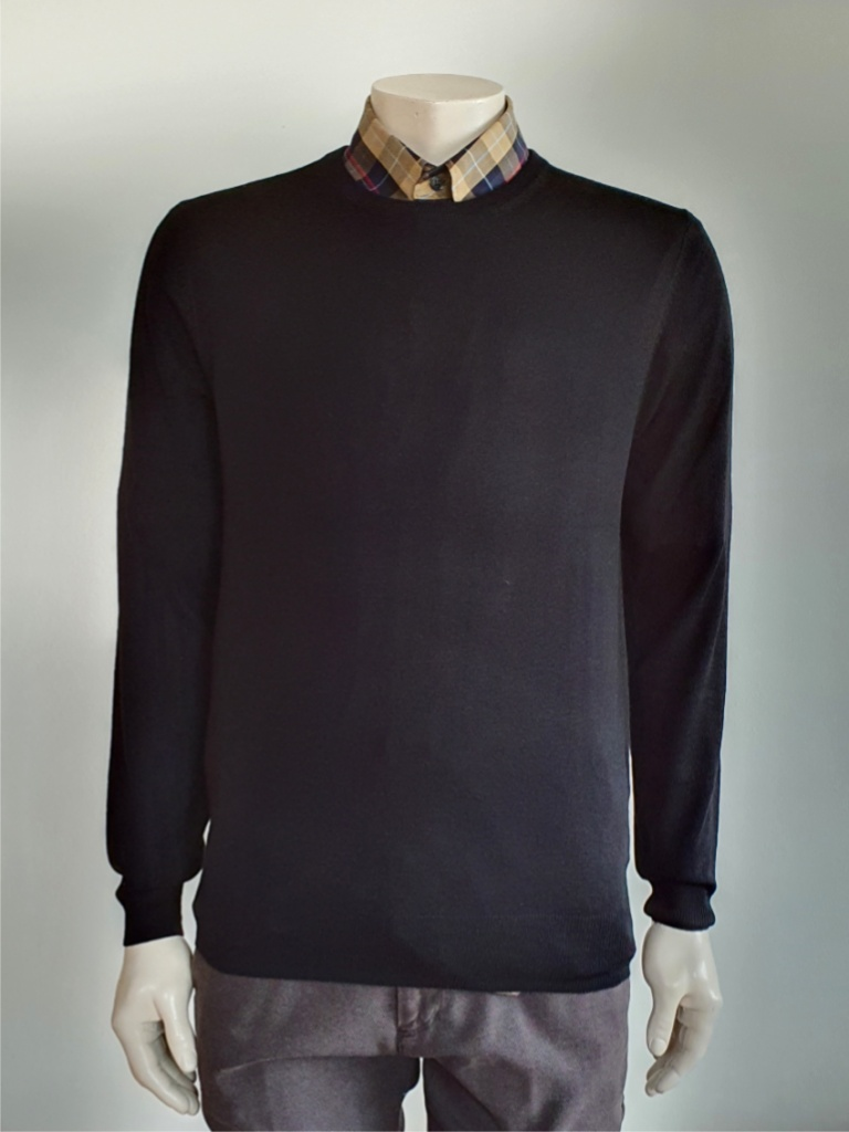 Ben Sherman Merino Crew Neck True Black