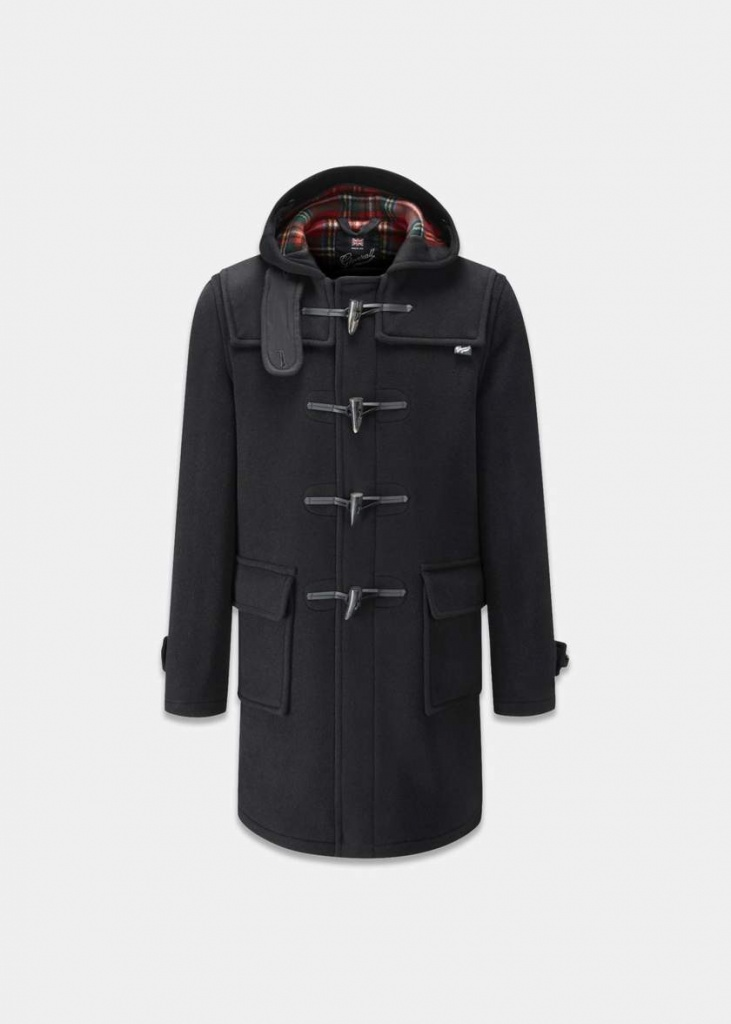 Morris Duffle Coat Black Stewart