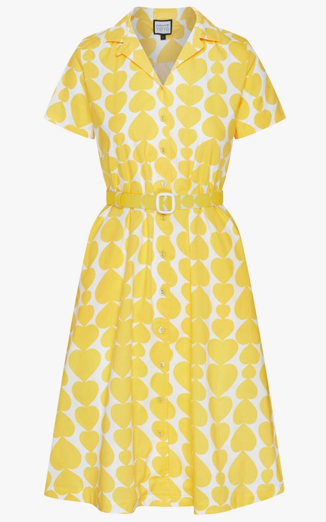 Sympathy for Sunshine dress - heartbeat yellow