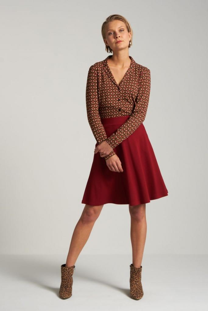 Sofia Skirt Milano Crepe True Red