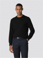 Ben Sherman Merino Crew Neck black