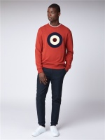 Ben Sherman Boucle Target Sweat Rust