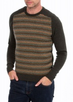 Alan Paine Hartford Fairisle crewneck green