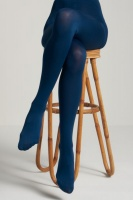 tights solid autumn blue